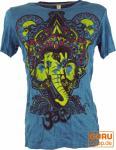 Baba T-Shirt Ganesha mit drittem Auge petrol