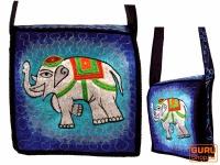 Hippie Tasche, Bestickte Motivtasche Elefant