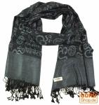 Pashmina-Viskose Schal Paisley Schal - schwarz
