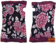 Handstulpen aus Filz - pink
