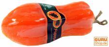 Handgeformte Fruchtseife Papaya