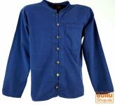 Hemd Yogahemd, Hippie, Goa Hemd - blau