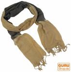 Feiner Baumwollschal mit Farbverlauf beige/grau