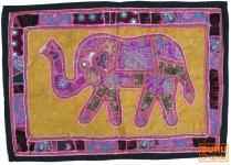 Indischer Wandteppich Patchwork Wandbehang mit Elefant