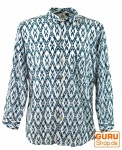 Goa Hippie Hemd, Herrenhemd - türkis