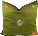 Retro Kissenhülle -3 grün