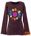 Goa Langarmshirt Stonewash - braun