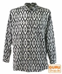 Goa Hippie Hemd, Herrenhemd - schwarz