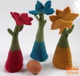 Filz Eierwärmer Tischdeko `Blume`