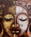 Gemälde auf Leinwand Buddha 90*70 cm