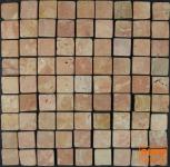 Karo Mosaik Fliesen aus rotem Marmor (P-01)