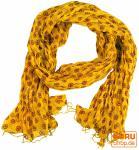 Baumwolltuch, Schal mit Golddruck, gelb