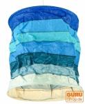 Papier Hängelampe Annapurna Stripes blau