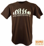 Fun T-Shirt `Evolution` - braun