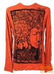 Langarmshirt Buddha - rostorange