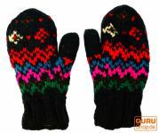 Handschuhe Fauster schwarz bunt
