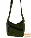Kleine Schultertasche, Hippie Tasche, Goa Tasche - dunkelgrün