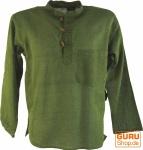 Nepal Fischerhemd Goa Hippie - moosgrün