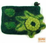 Portemonnaie aus Filz, Filzportemonnaie flower grün