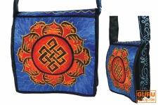 Hippie Tasche, Bestickte Motivtasche unendlicher Knoten