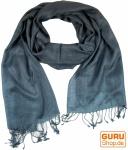 Indischer Schal taubenblau