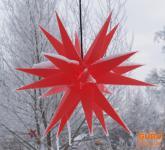 Melchior outdoor II rot, Außenstern mit 20 Spitzen, inkl. 4m Außenkabel