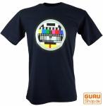 Fun T-Shirt `Testbild`- dunkelblau