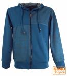 Goa Jacke Ethno Hoody - blau