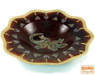 umflochtene Keramikschale, Obstschale