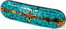 Haarspange Mosaik - türkis
