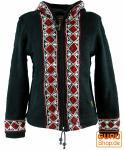 Bestickte Strickjacke Wolljacke Nepal Jacke