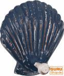 Wandhaken `Muschel` antikblau