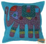 Dekokissenhülle - Patchwork Elefant aa-1