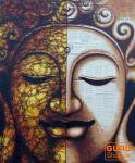 Gemälde auf Leinwand Buddha 120*100 cm