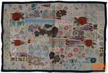 Indischer Wandteppich Patchwork 100*155 cm - 9