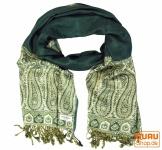 Pashmina-Viskose Schal Paisley Schal - grün
