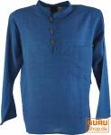 Nepal Fischerhemd Goa Hippie - blau