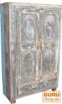 Indien-Antik massiver Schrank mit 2 Schubladen (JH1-186)