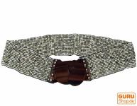 Perlen Gürtel mit Holzverschluß