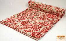 Steppdecke mit indischem Muster