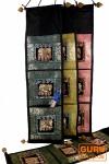 Brokat Wandtasche mit 3 Fächern aus Thailand