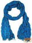 Baumwolltuch, Schal mit Golddruck, blau