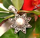 Silberanhänger Sonne 2 Perle