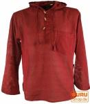 Nepal Hemd Goa Hippie Sweatshirt - bordeaux