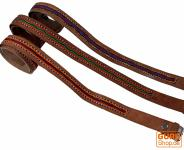 Hippie Gürtel bestickter Ledergürtel Rajasthan