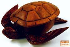 Holzschale, Holzschachtel in Schildkrötenform