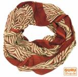 Indischer Loop Schal handbedruckt