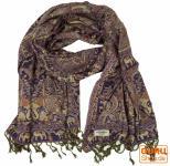 Indischer Schal mit Paislay Muster