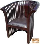 Kolonialstil-Sessel aus Teakholz
