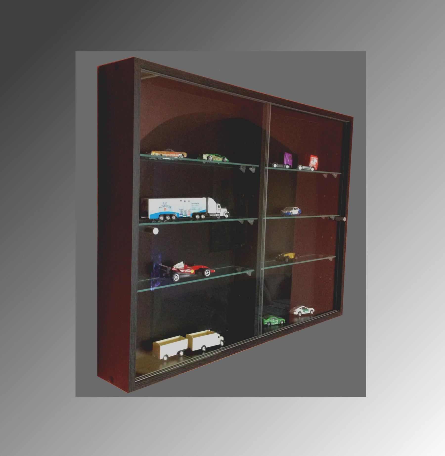 sammlervitrine glasvitrine sammelvitrine h ngevitrine vitrine schwarz 60x80x11 cm kaufen bei. Black Bedroom Furniture Sets. Home Design Ideas